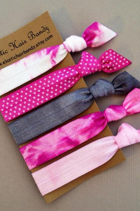 The Elle Hair Tie -Ponytail Holder Collection - 5 Elastic Hair Ties by Elastic Hair Bandz on Etsy