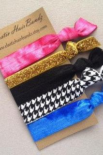 The Charlie Hair Tie Collection - 5 Elastic Hair Ties by Elastic Hair Bandz on Etsy