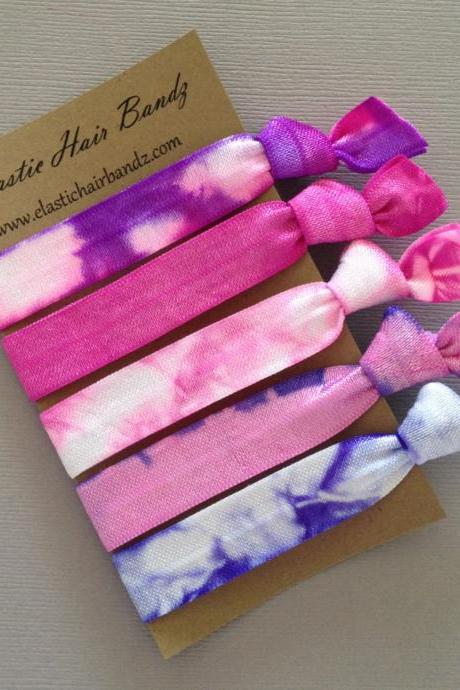 The Molly Hair Tie - Ponytail Holder Collection - 5 Elastic Hair Ties by Elastic Hair Bandz on Etsy
