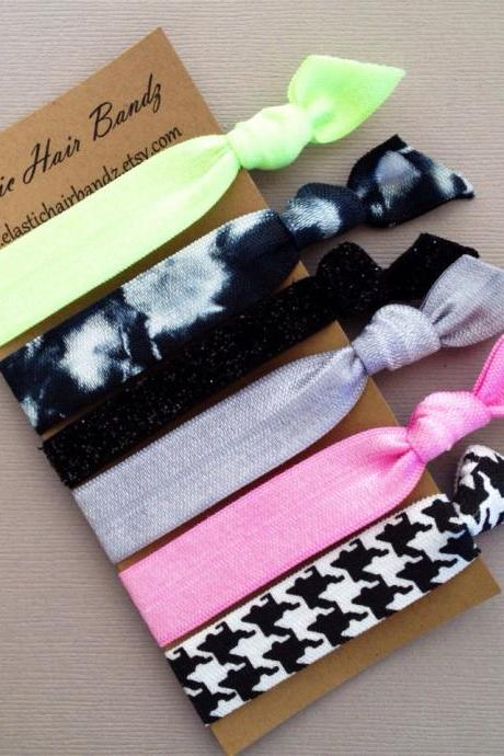 The Sasha Hair Tie-Ponytail Holder Collection by Elastic Hair Bandz on Etsy