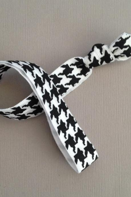 Houndstooth Elastic Headband by Elastic Hair Bandz