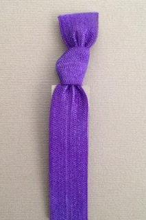 1 Violet Hand Dyed Hair Tie by Elastic Hair Bandz on Etsy