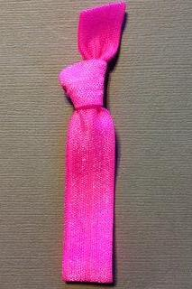 1 Hot Fuchsia Hand Dyed Hair Tie by Elastic Hair Bandz on Etsy