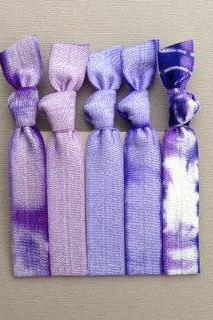Lavender Tie Dye Collection Elastic Hair Ties - Ponytail Holder - by Elastic Hair Bandz