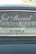 Wedding Getaway Car Decals Personalized with Butterflies