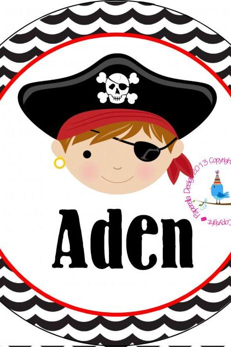 Personalized Melamine Pirate Plate