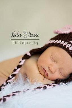 Crochet Football Hat for Baby Girl, Newborn Football Hat, Baby Girl Football Hat - Made to Order