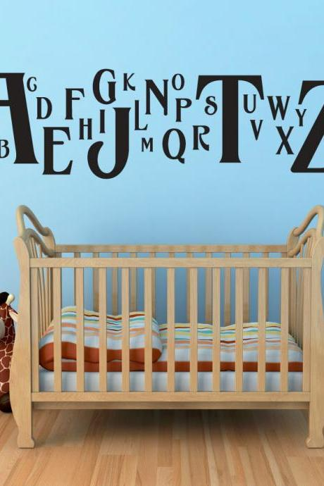 Havana Alphabet Wall Decal - Children's Room and Nursery Vinyl Wall Art Decal Sticker