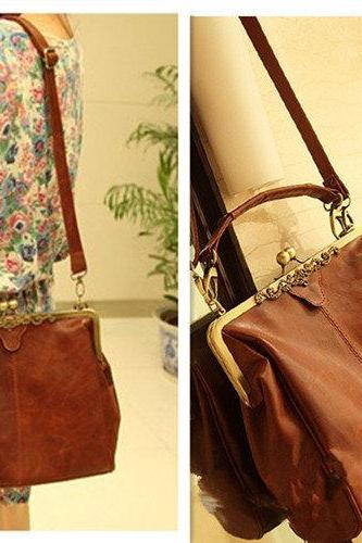 Fashion Style Brown Hollow Out Shoulder Bag