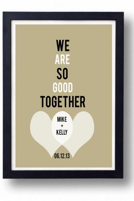 Kitchen Art, Kitchen decor, Anniversary gift for Husband, wife-We Are So Good Together Art