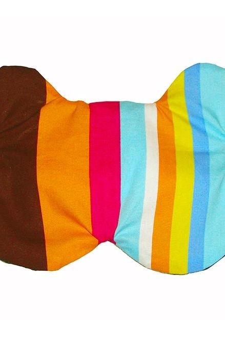 Bear Sleep Mask - Rainbow Stripes