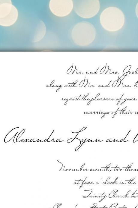 Wedding Invitation Card Set : Lillith - printable diy CUSTOMIZED