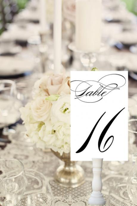 Party Table Number Cards - wedding printable paper goods