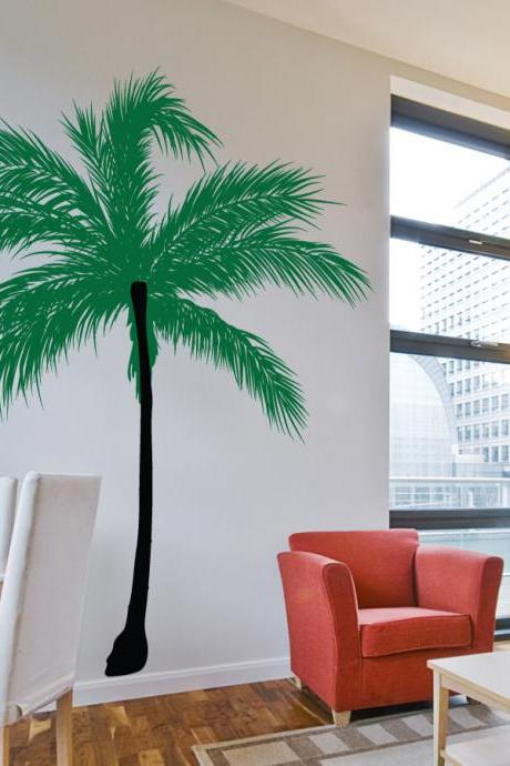 Date Palm Tree Wall Decal