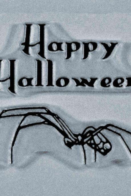 Happy Halloween Spider clear stamp