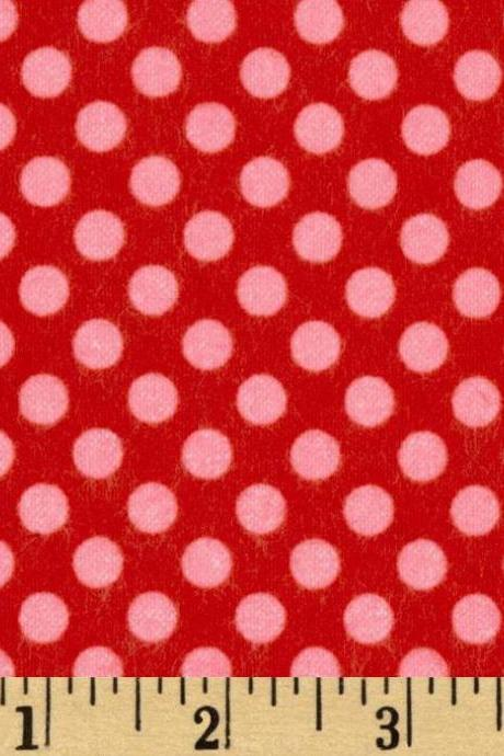Baby Flannel Polka Dot Print Fitted Crib Sheet Various Colors