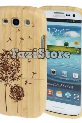 Samsung Galaxy S3 Case, Dandelion Phone Case, Galaxy S3 Case, Bamboo Phone Case