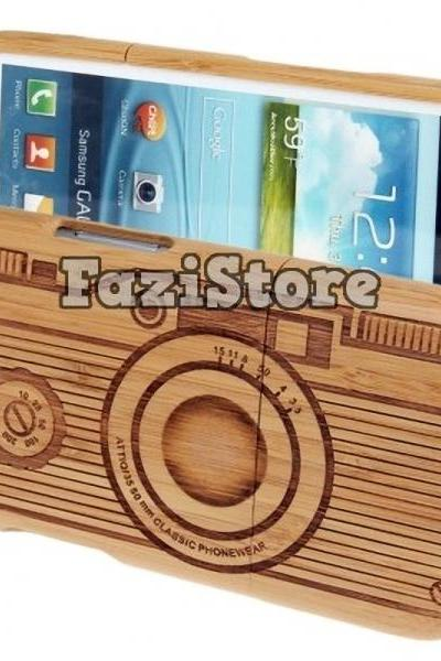 Samsung Galaxy S3 Case, Camera Phone Case, Galaxy S3 Case, Bamboo Phone Case, Samsung Galaxy S III Case