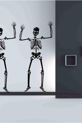 Skeleton Decals Decor for Halloween