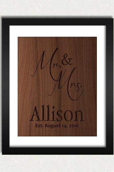 Personalized Family Name Wood Engraved Sign Printable - Digital Download - Size 8x10 - Perfect Gift Idea