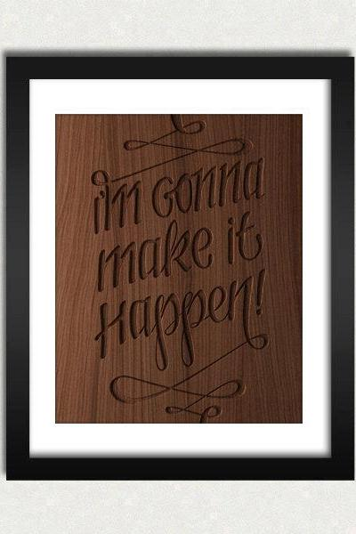 Personalized Quote Wood Engraved Sign Printable - Digital Download - Size 8x10 - Perfect Gift Idea