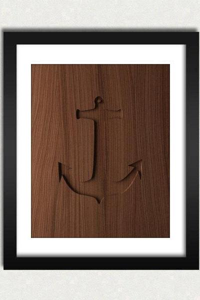 Personalized Anchor Wood Engraved Sign Printable - Digital Download - Size 8x10 - Perfect Gift Idea