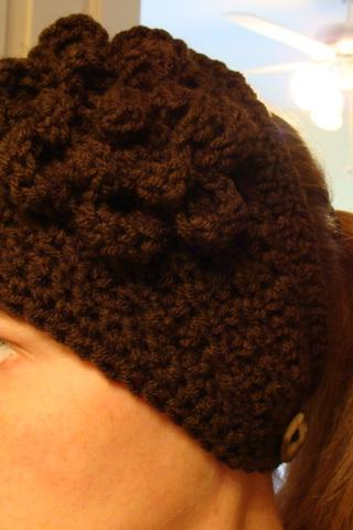 Crochet Head Warmer Chocolate Brown Do Bob Diva