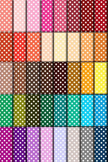 Polka Dot Paper (60 Colors) - Polka Dot Paper for Wedding, Scrapbook Printables, Cards 12'x12' - HMD00080