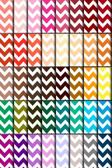 Chevron Scrapbook Paper (60 Colors) - Chevron Digital Paper for Wedding, Scrapbook Printables, Cards 12'x12' - HMD00081