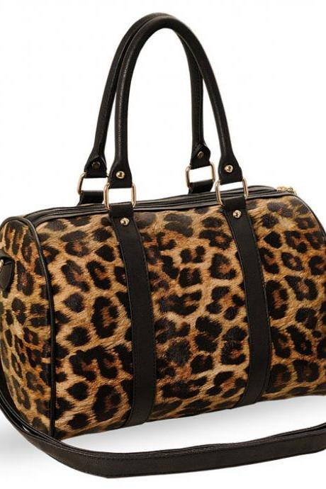 Fashion Elegant Leopard Printed Shoulder Bag