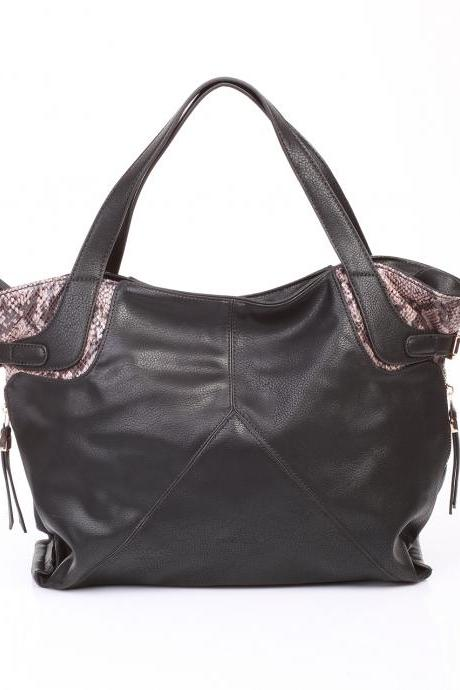 Black Leather Hobo. Black Leather Handbag. Black Leather Purse.