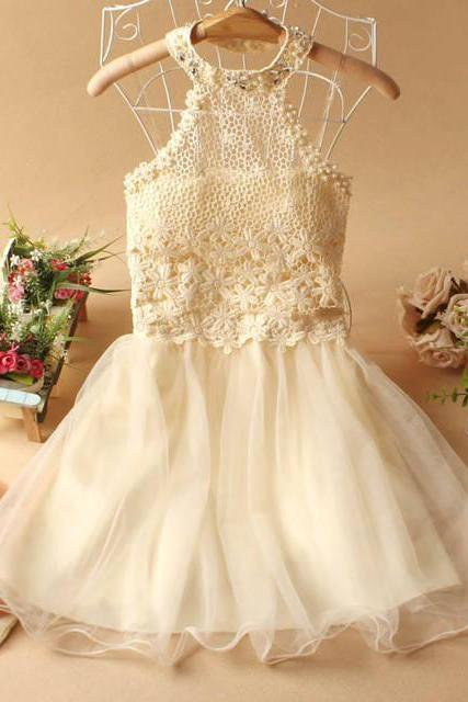2013 autumn pregnantwith halter-neck dress evening party Prom dress Bridesmaid Wedding Dress-Apricot