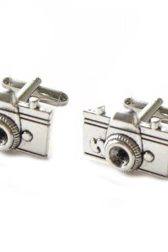 Camera Cufflinks Men Photography Cuff links Wedding father Gift Birthday anniversary