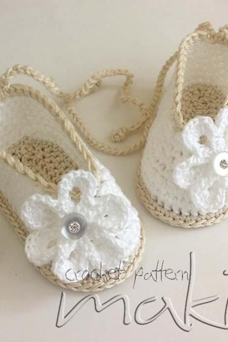 Crochet pattern baby booties ballerina - Perfect for special occasion. Permission to sell finished items.