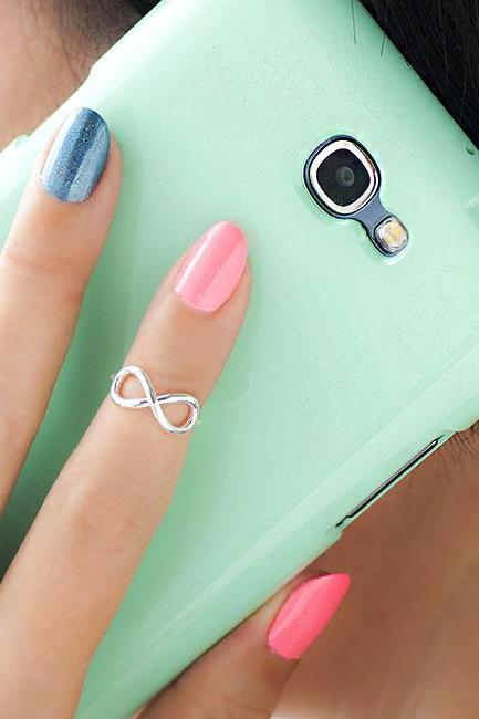 Silver Infinity Knuckle Ring, Mini Eternity Pinky Ring