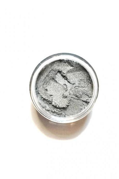 Stone - Vegan Mineral Eyeshadow - pale sheer high shimmer grey silver - Handcrafted Makeup