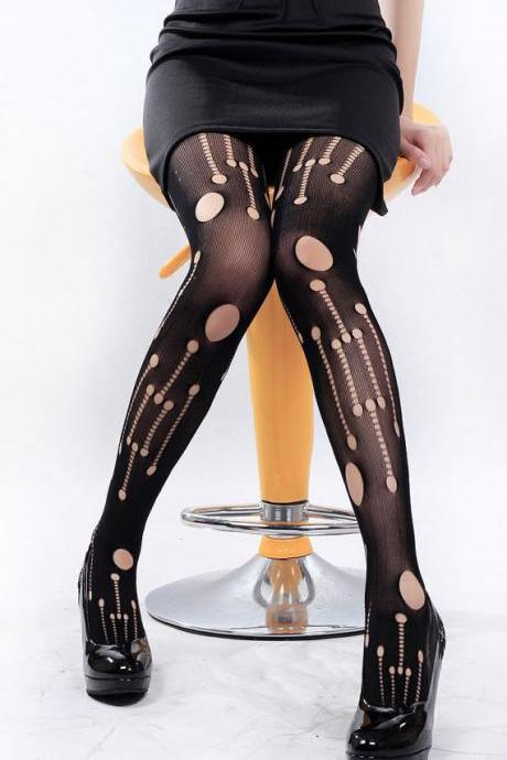 SHIP FROM NY - HALLOWEEN TIGHTS / Ripped Holes Fishnet Tights