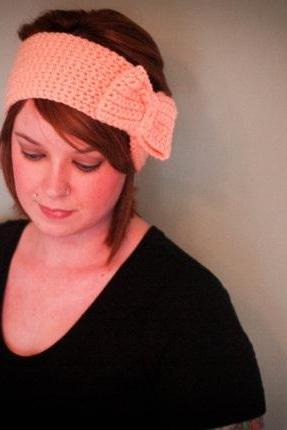 Crochet Bow Headband Earwarmer