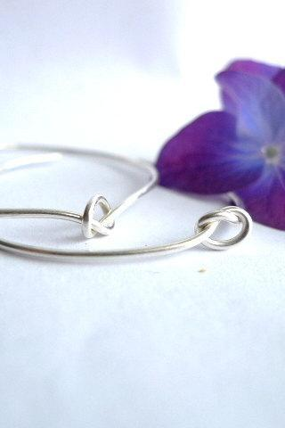 Knot Hoop Earrings- Perfect for everyday wear