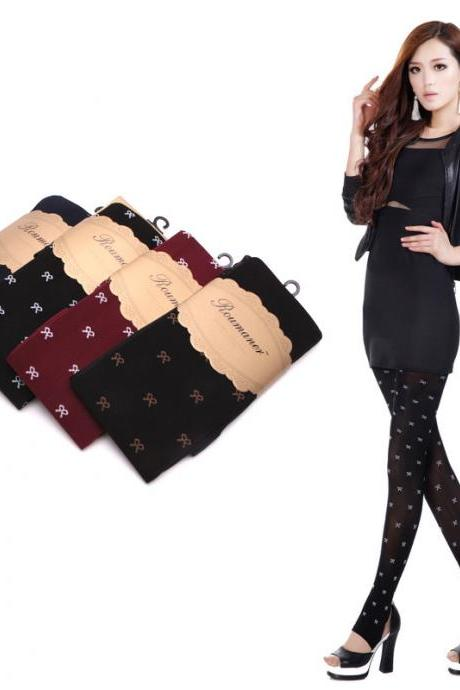 Cute Bow Pattern Stockings ( 4 colors)