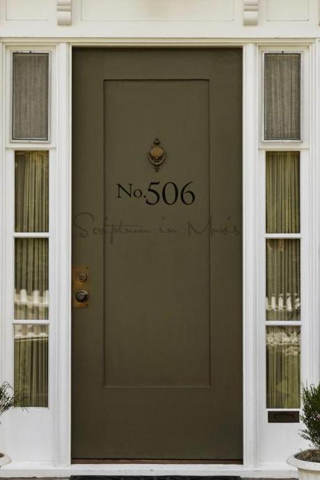 Address Number Door or Mailbox Vinyl Decal - Small