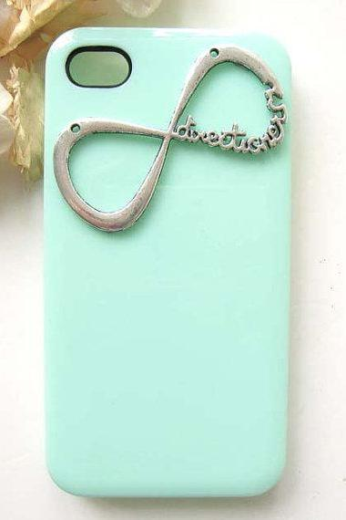 Silver Infinity One Directioner Mint iPhone 5 Case, iPhone 5S Hard Case