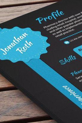 Creative Resume - Black Under Blue