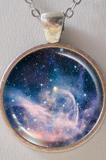 Nebula Pendant Necklace - Star Formation Region of Carina Nebula - Galaxy Pendant Series