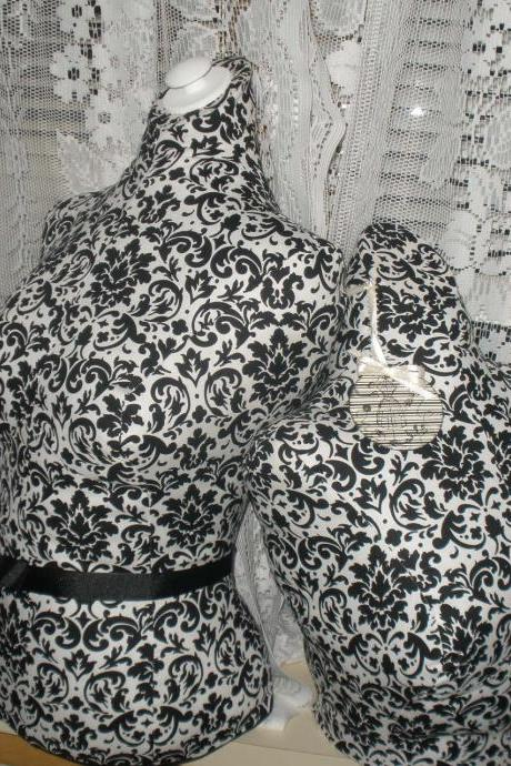 Boutique Dress form, bust to the waist set. Life size torso great for store front or home decor. Paris black Bust forms.