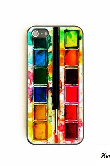 Watercolor paint kit case for iphone 5 5s