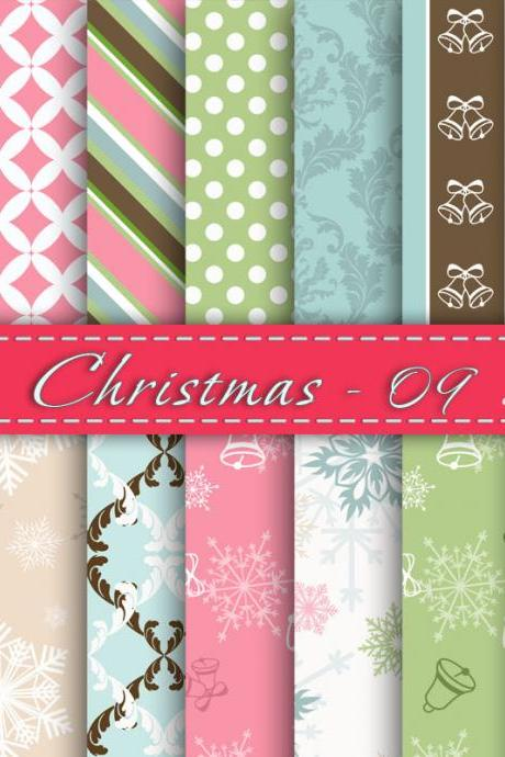 Christmas - Digital scrapbooking paper, Printable paper christmas, Cardmaking