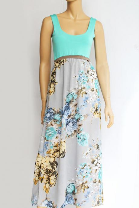maxi/ day/ summer /beach/ chiffon dress
