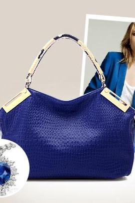 Vintage Style Solid Color Women's Tote/Handle Bag