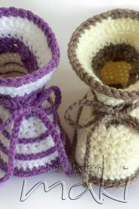 Two styles in one pattern! Simple and pretty baby boots!